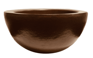 copper round bowl only